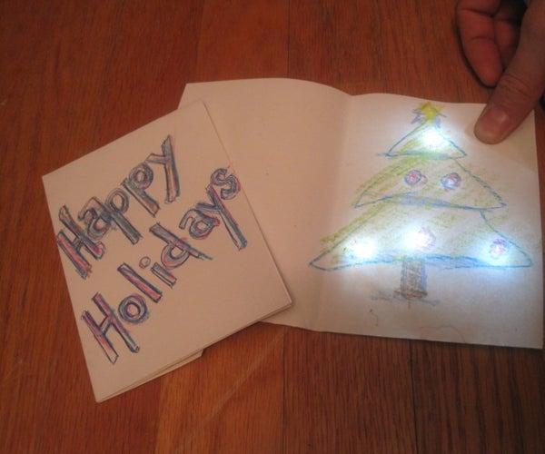 Holiday Greeting Card With Chibitronics LED