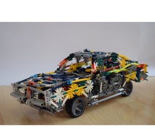 K'nex Muscle Car - Dodge Charger 1969 (Instructions)