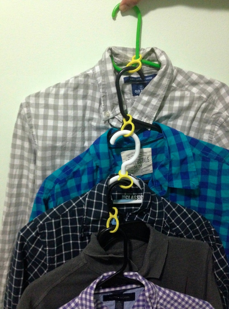 Using the 8 Hanger Loop to Organize and Save Space