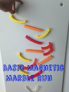 3D Printed Magnetic Marble Run