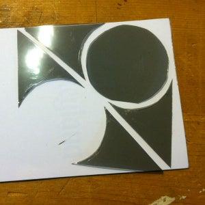 Cut the Polarized Sheets Into Circular Lenses