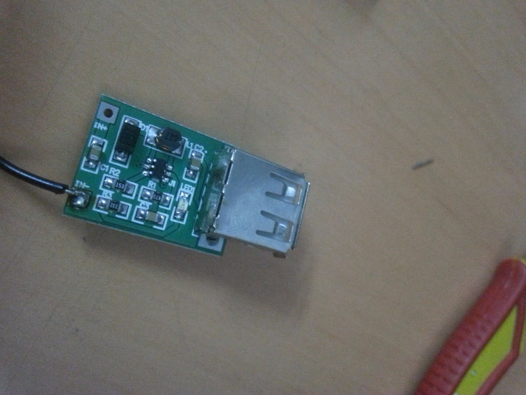 Attaching the Switch and the Usb Circuit: