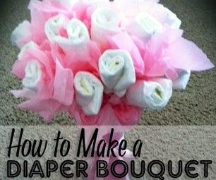 Diaper Bouquet Tutorial - Baby Shower