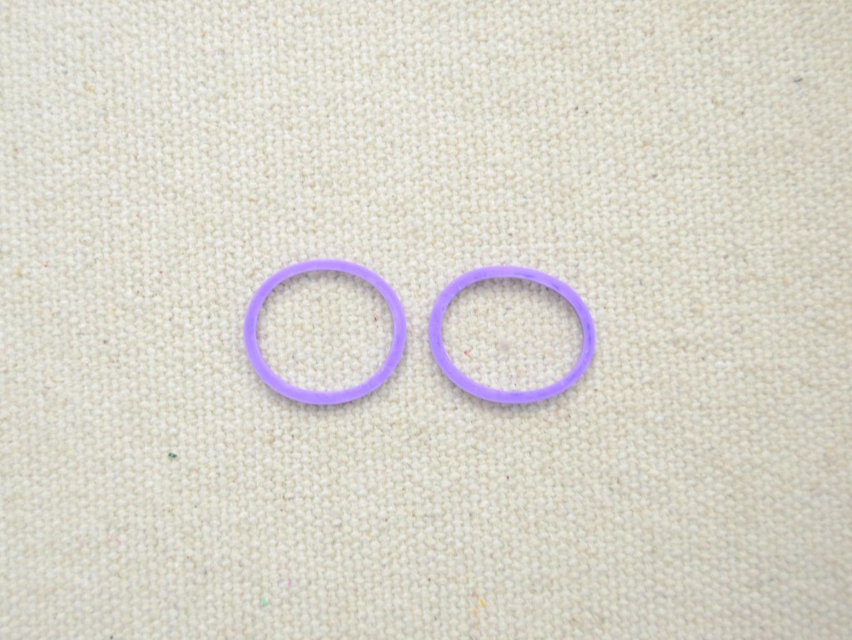 Prepare Two Purple Rubber Bands;