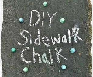 DIY Sidewalk Chalk