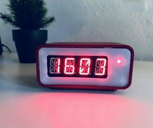 Retro Digital Clock W/ Raspberry Pi Zero