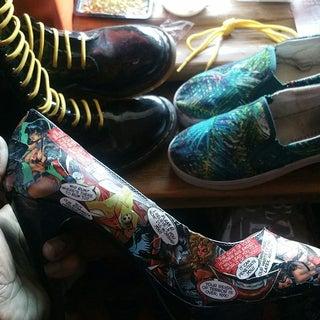 How to Make Comic Print Heels