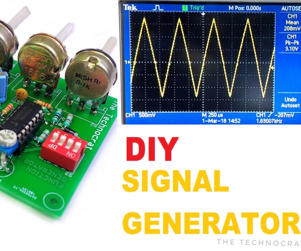 How to Make a Signal Generator  Learn to Generate Electrical Signals