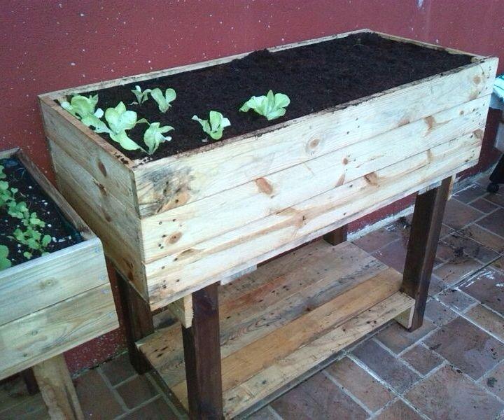 Como Hacer Una Mesa De Cultivo Con Palets
