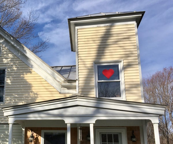 *Perfect* Heart on Plexiglass for Covid-19 Community Support