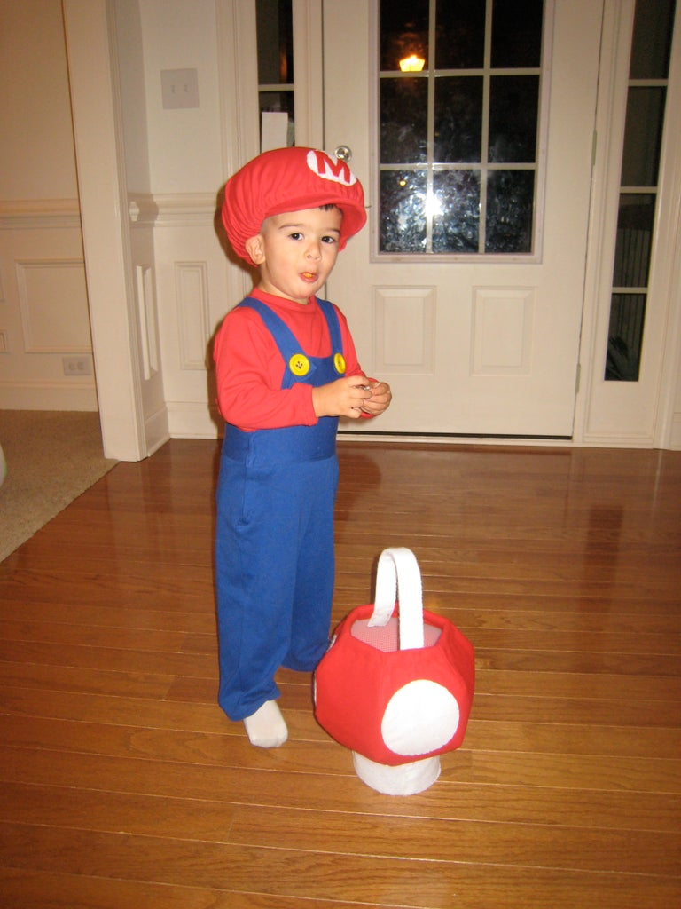Yoshi Mascot and Baby Mario Costumes for Toddlers