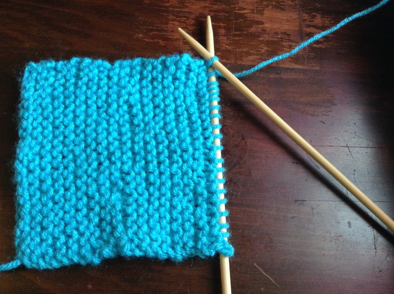 Making the Knit Rows
