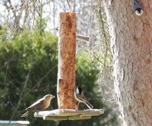 Rustic Garden Bird Feeder