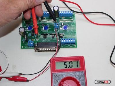 Test for +5VDC