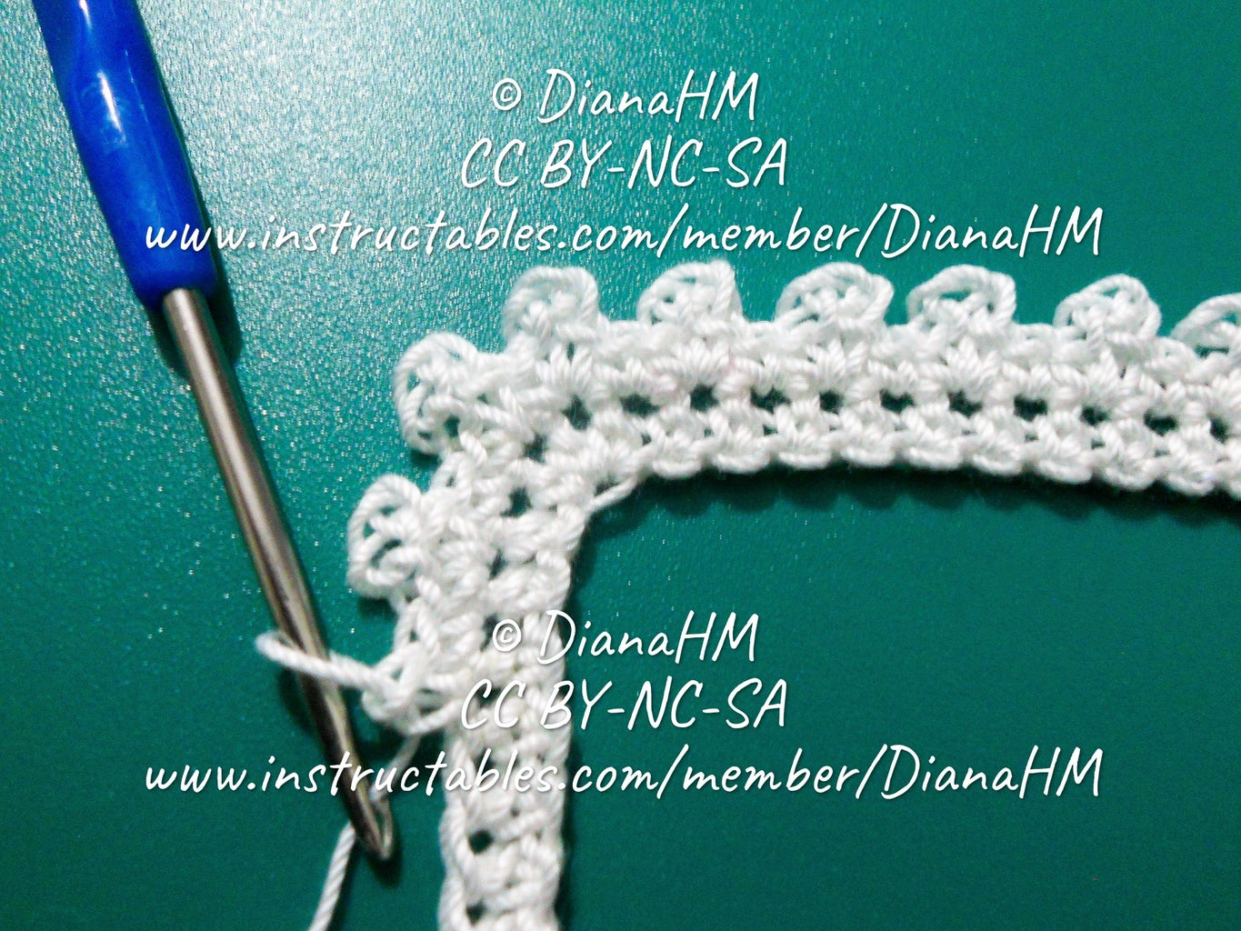 Making the Crocheted Part of the Frame