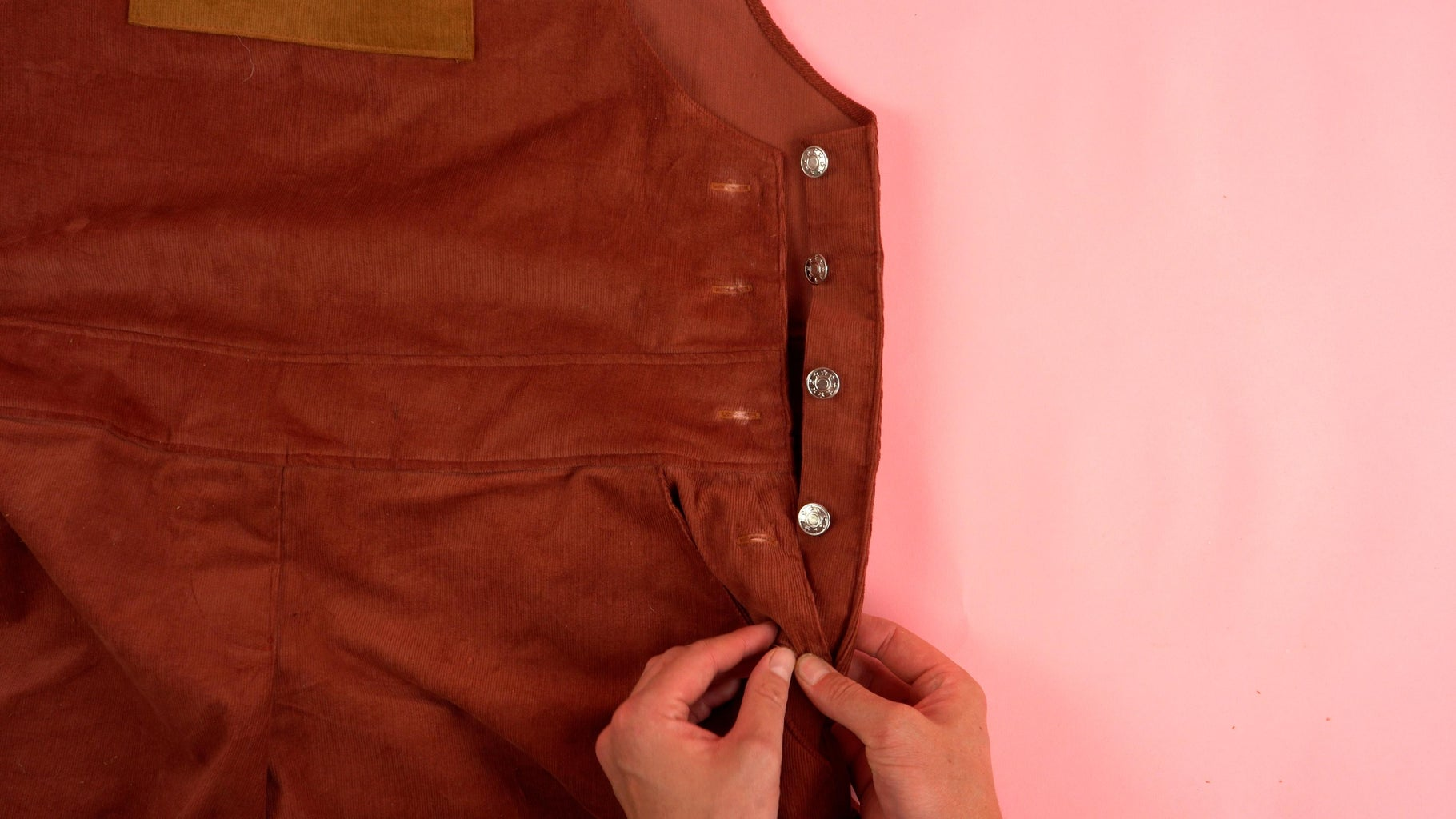 Adding Side Jean Buttons