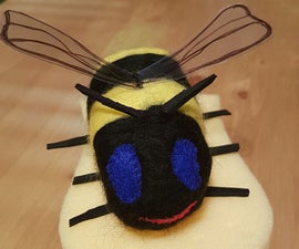 Honey Bee From Scraps & Felted Wool