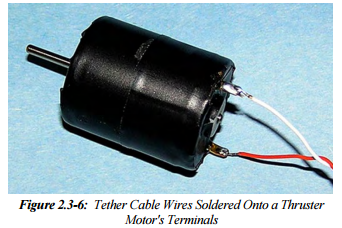 Connect the Tether Cable Wires to the Motors