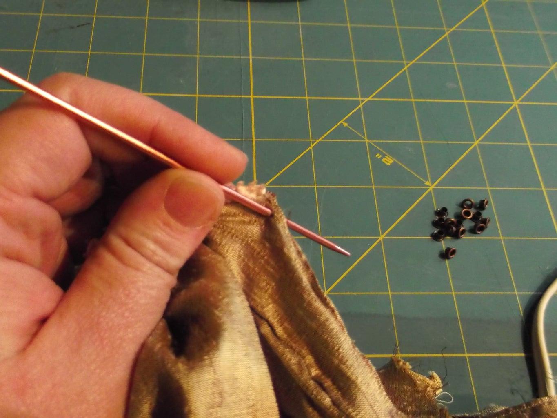 Dress Part 6: Eyelets & Lacing