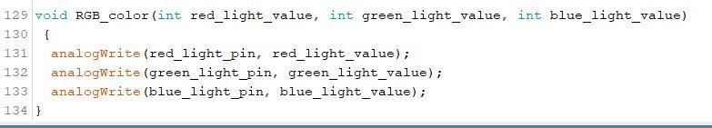 Final RGB LED Code