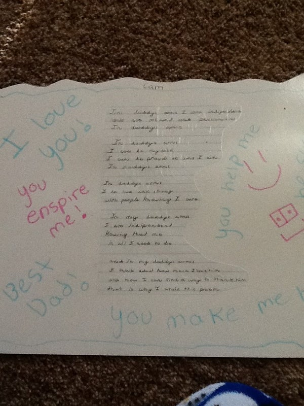 DIY Fathers Day Placemat With Poem