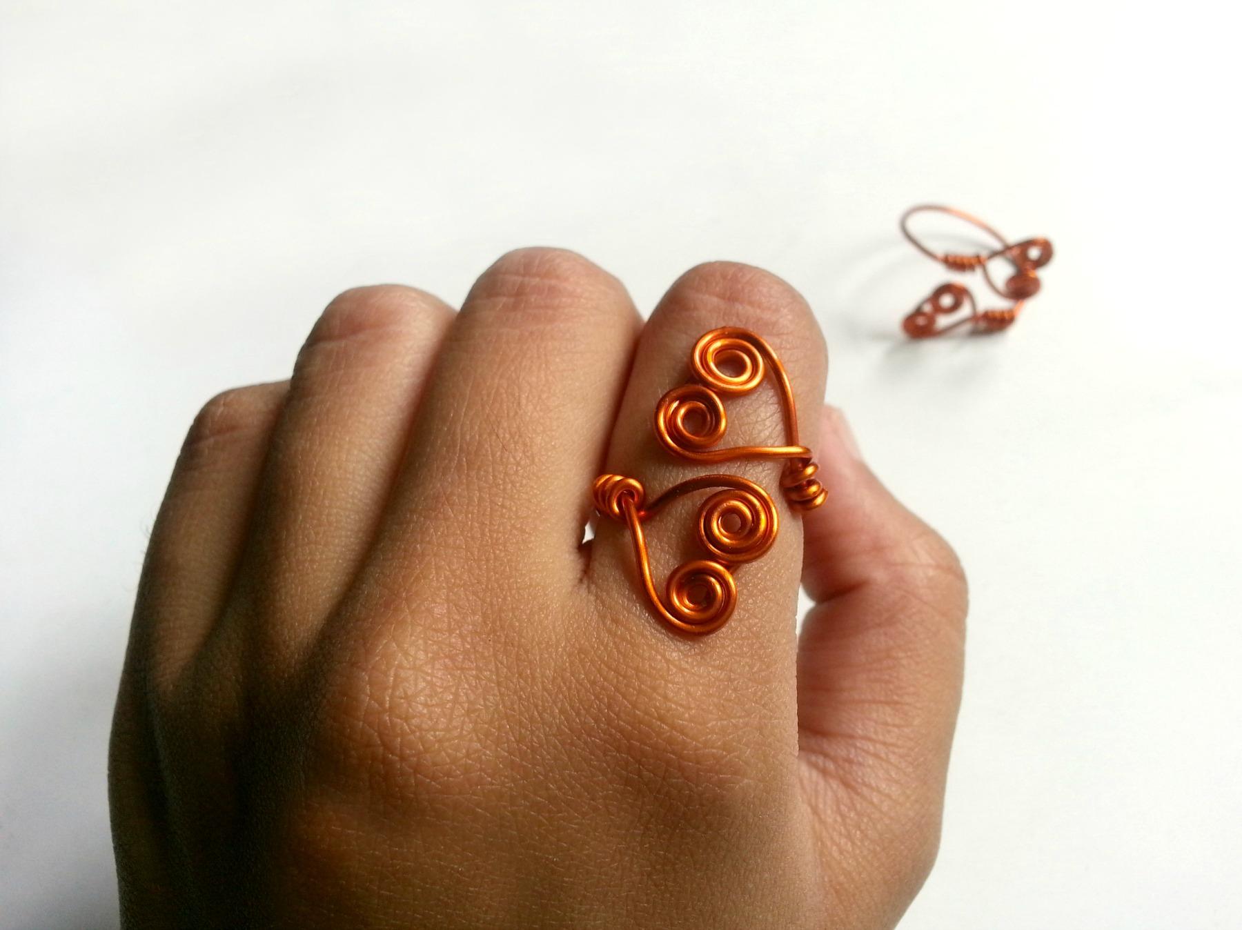 DIY Swirly Double-Heart Ring