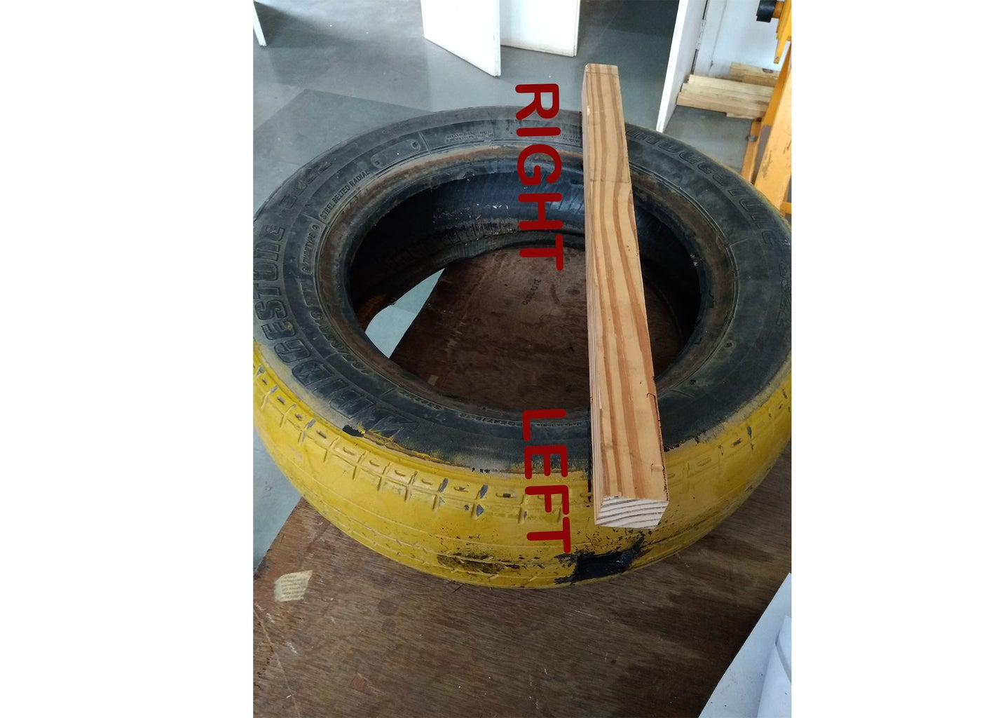 MARKING OF TIRE NO. 1 & 2