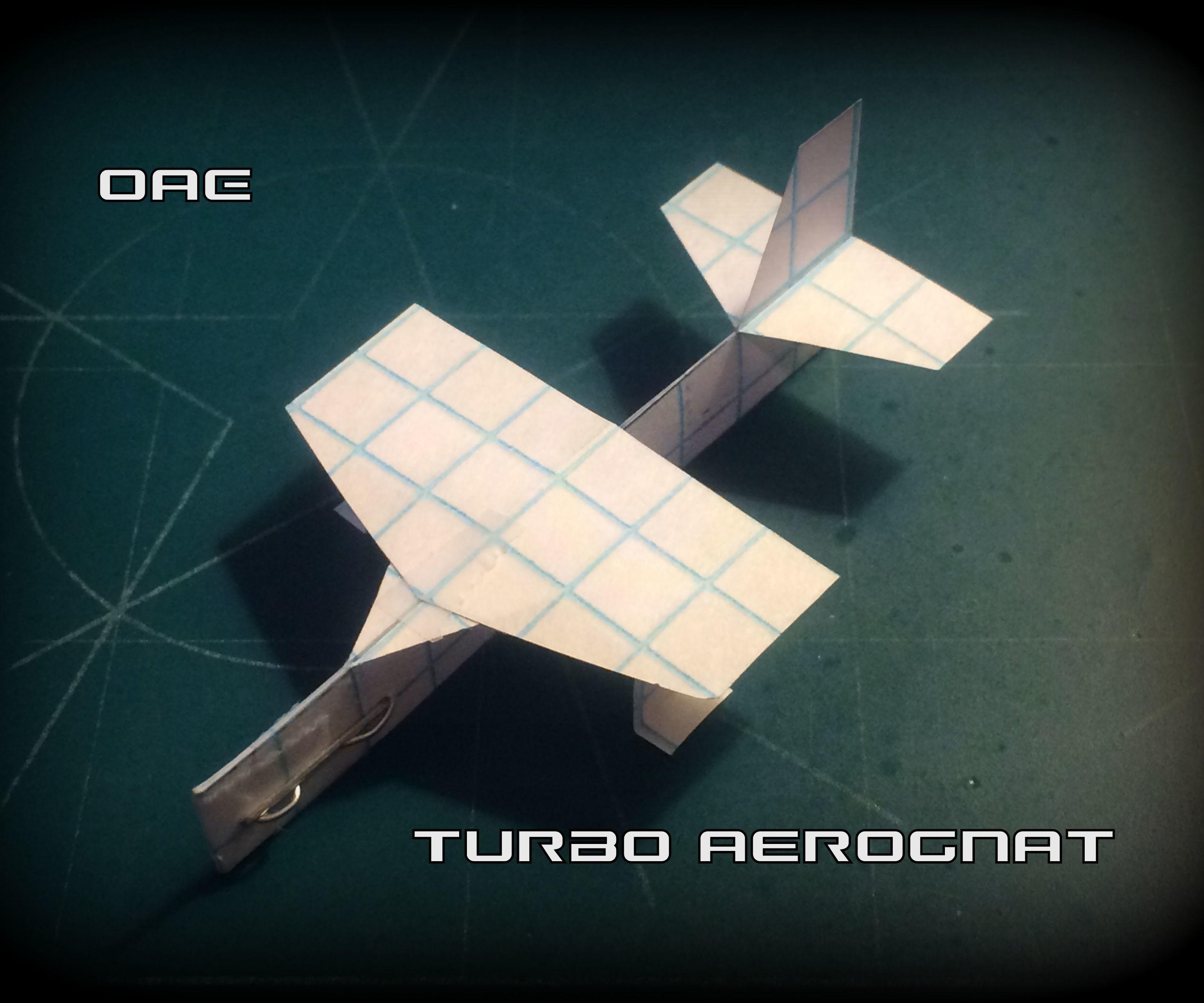 How To Make The Turbo AeroGnat Paper Airplane