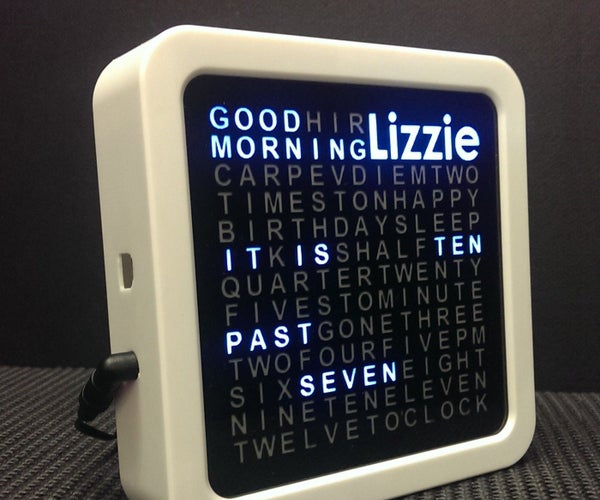 Personalised Word Clock