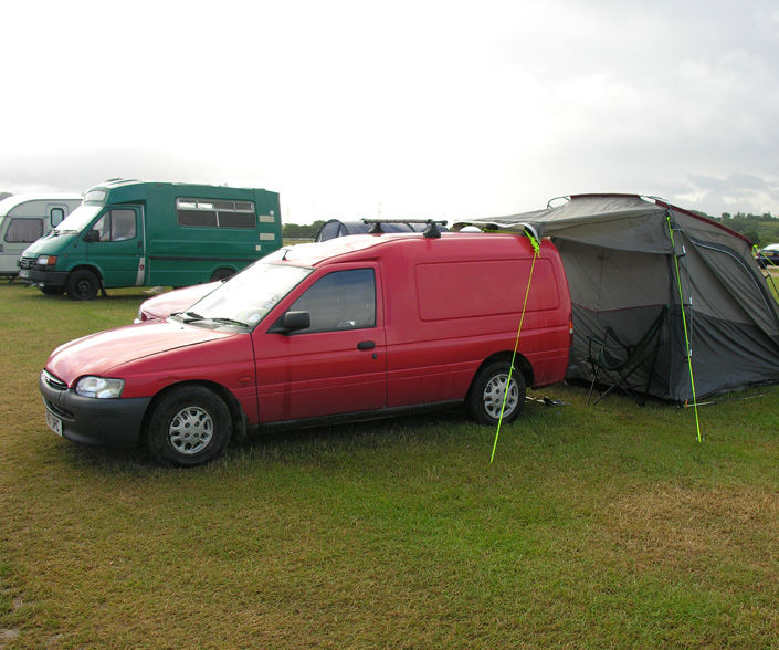 Stealth Micro Camper in a Ford Escort Van