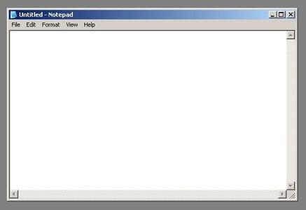 Open Notepad.