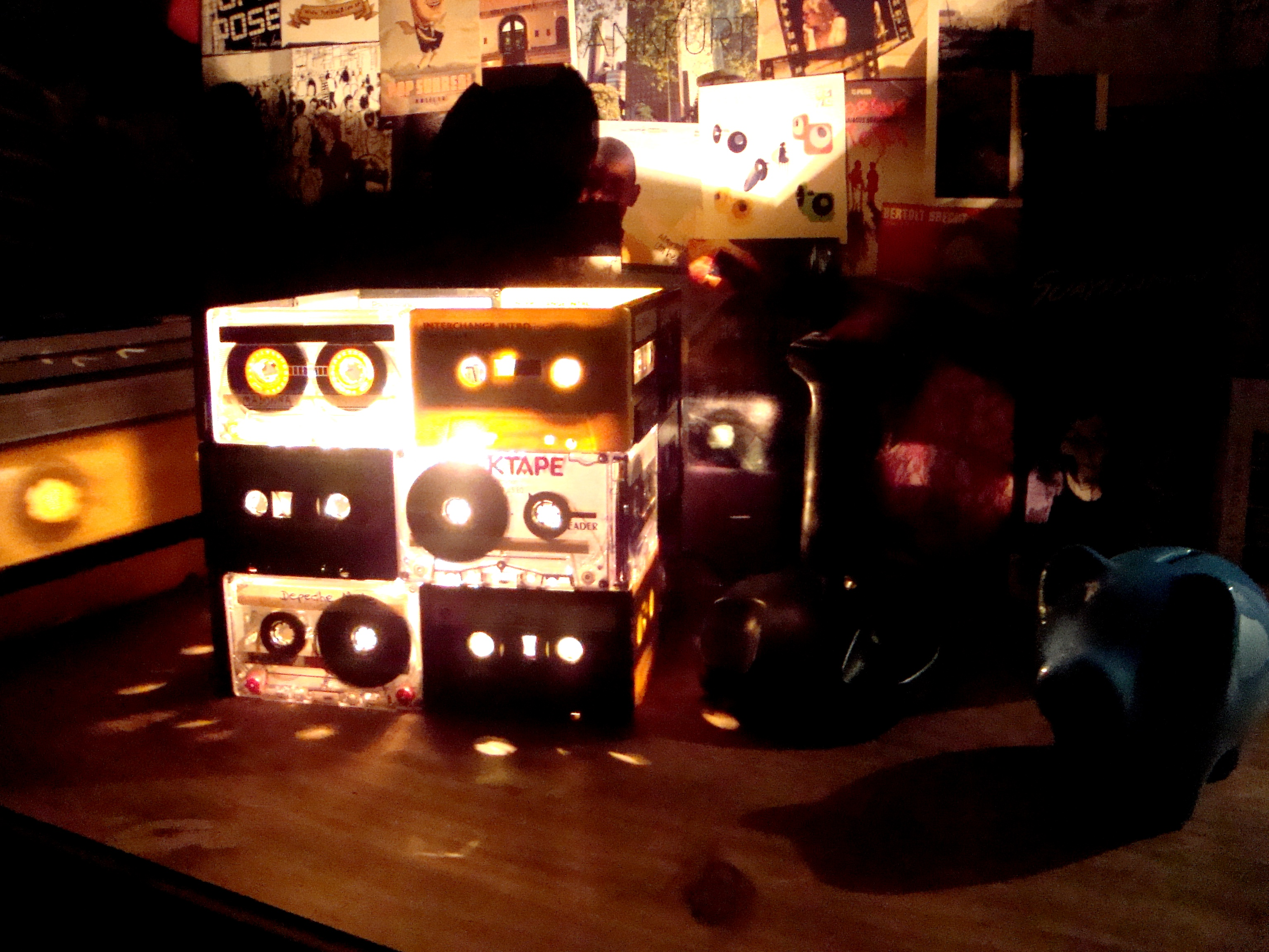 Retro tribute - CaSsette TaPes LamP with Joystick SwitcH