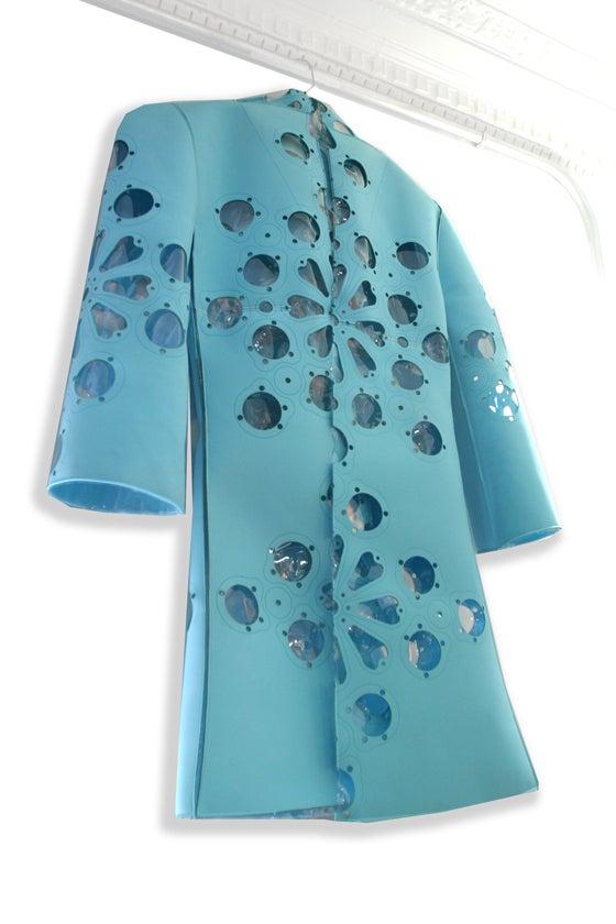 Flower Gasket Rain Jacket