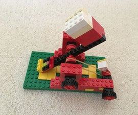 Lego Catapult Using Pivot, Lever and Wheel and Axel