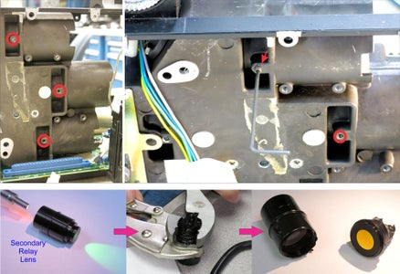 Removing and Disassembling Second Relay Lenses (One at a Time!)
