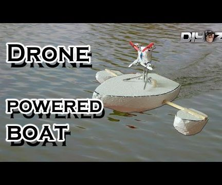 Drone Powered Boat