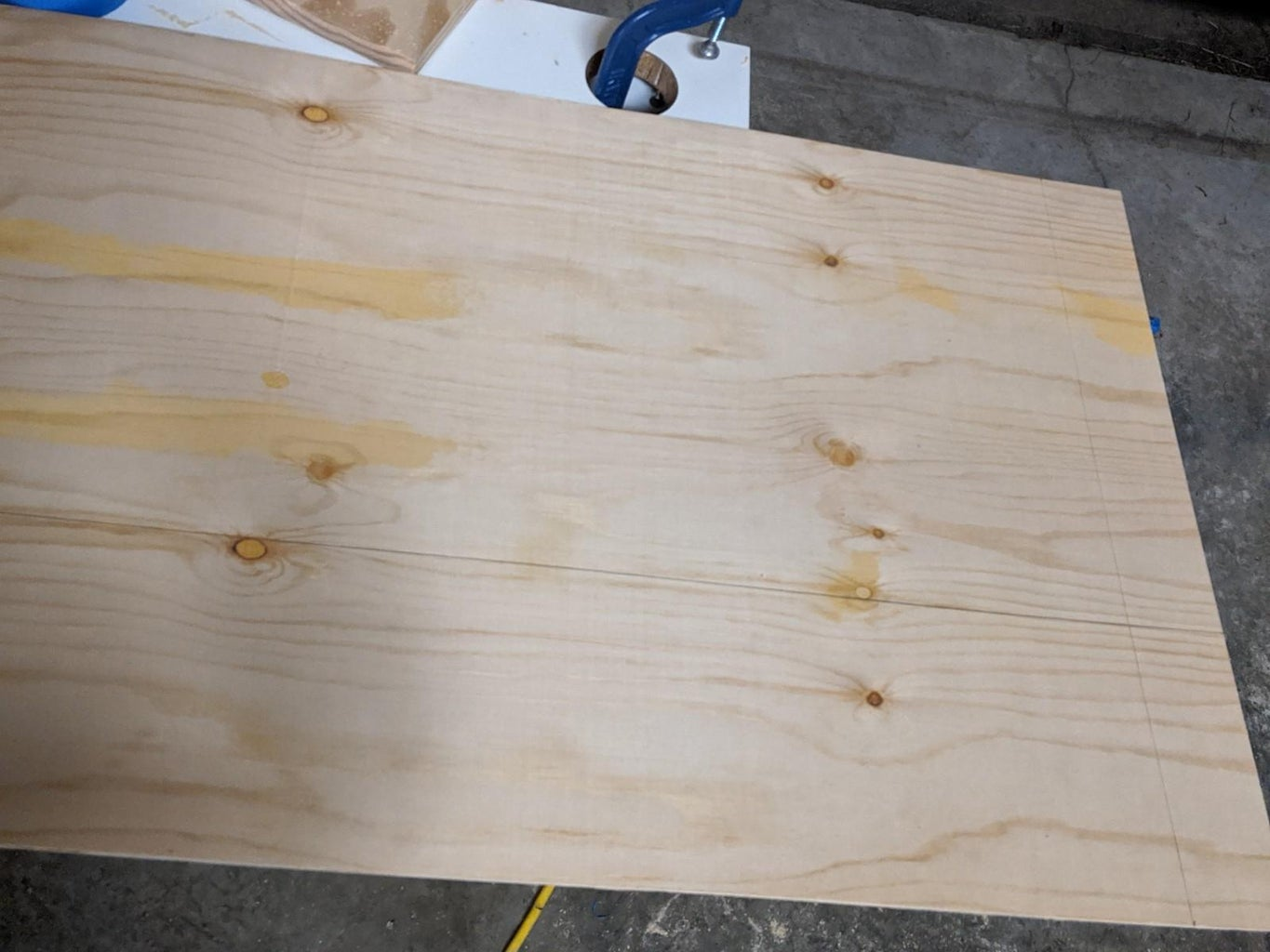Marking the Boards (Plywood Back)