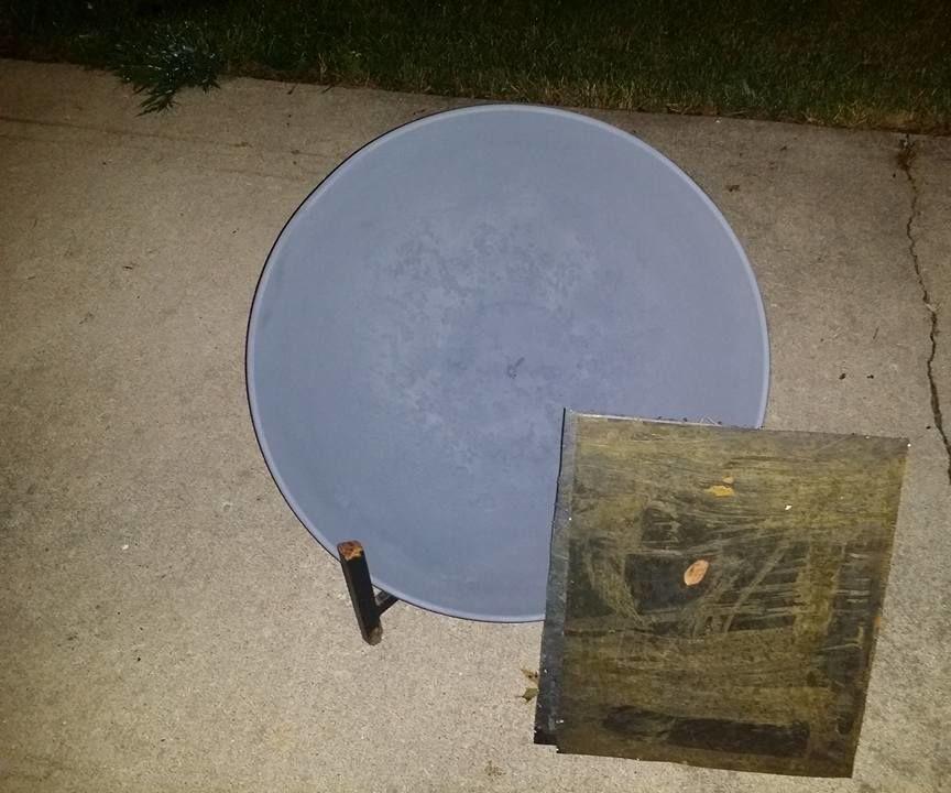 Turbine fire pit cover