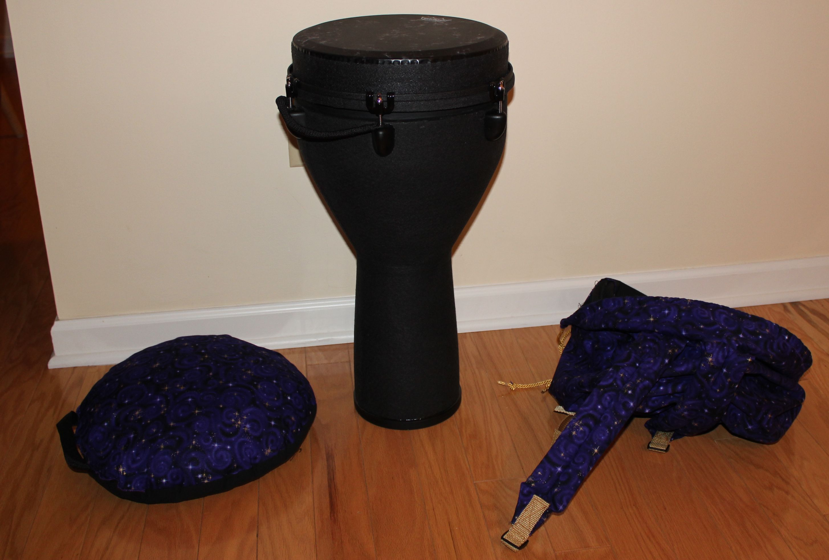 Make a Backpack-style Bag for your Drum (with Matching Cushion)