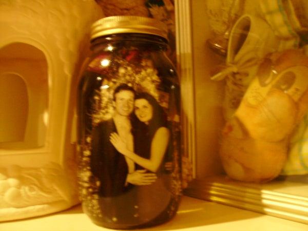 Simple Vintage Picture Jars!