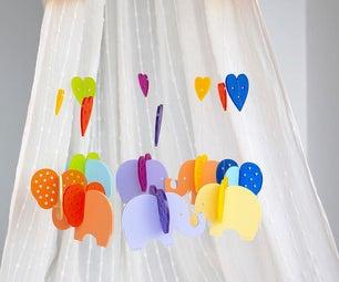 Laser Cut Acrylic Baby Nursery Mobile