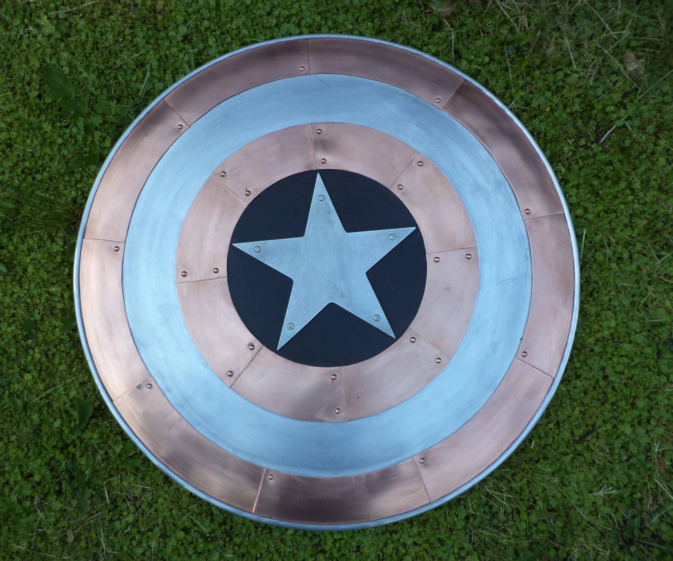 Copper and Aluminum Captain America Shield
