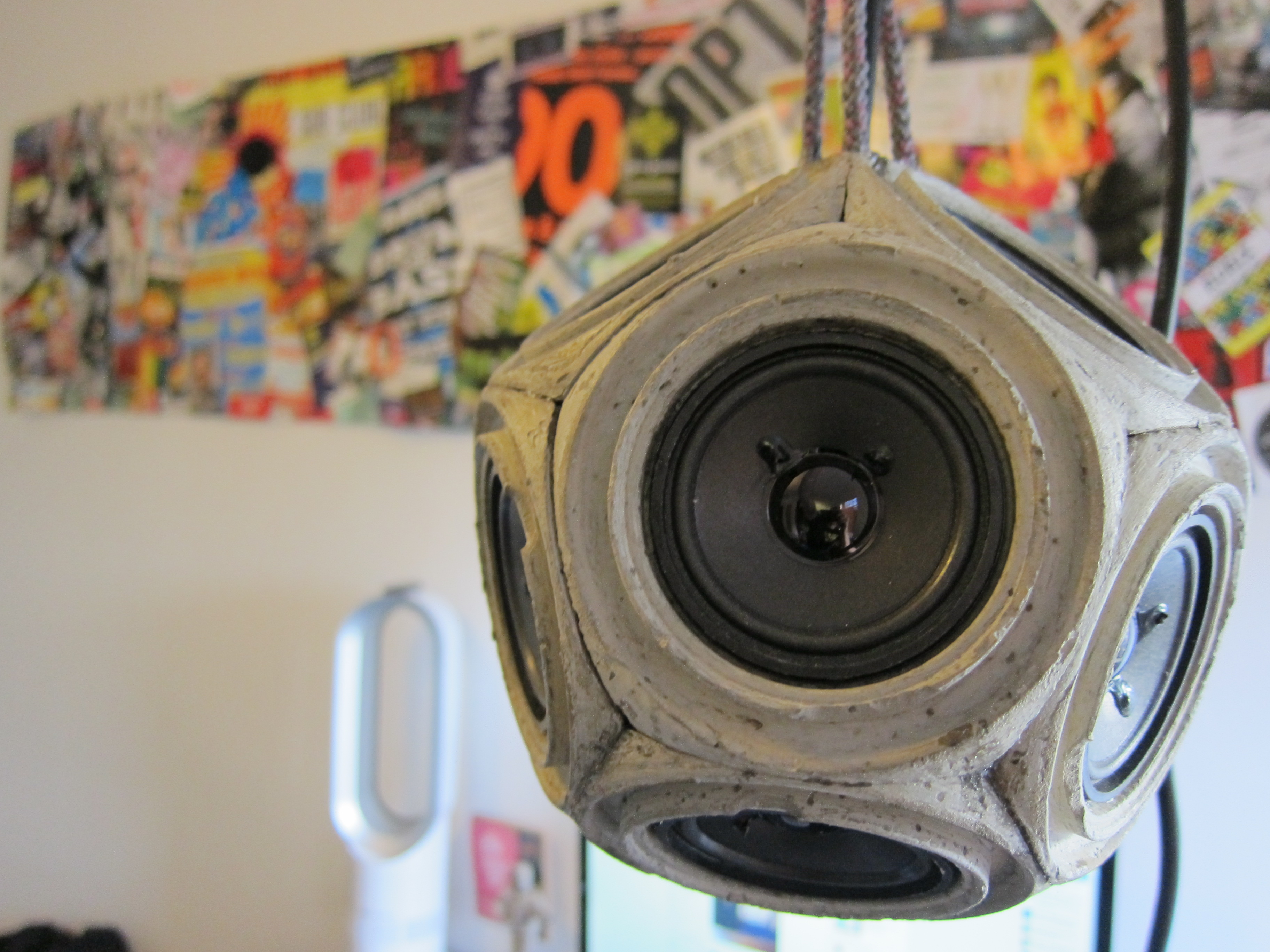 Concrete Dodecahedron Speaker