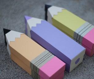3D Paper Pencil Treat Box