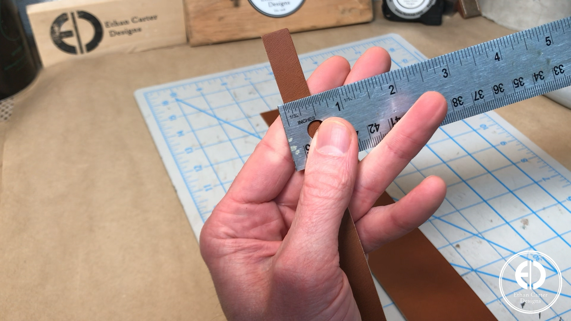 Cutting the Leather Strips & Picking the Layout Pattern