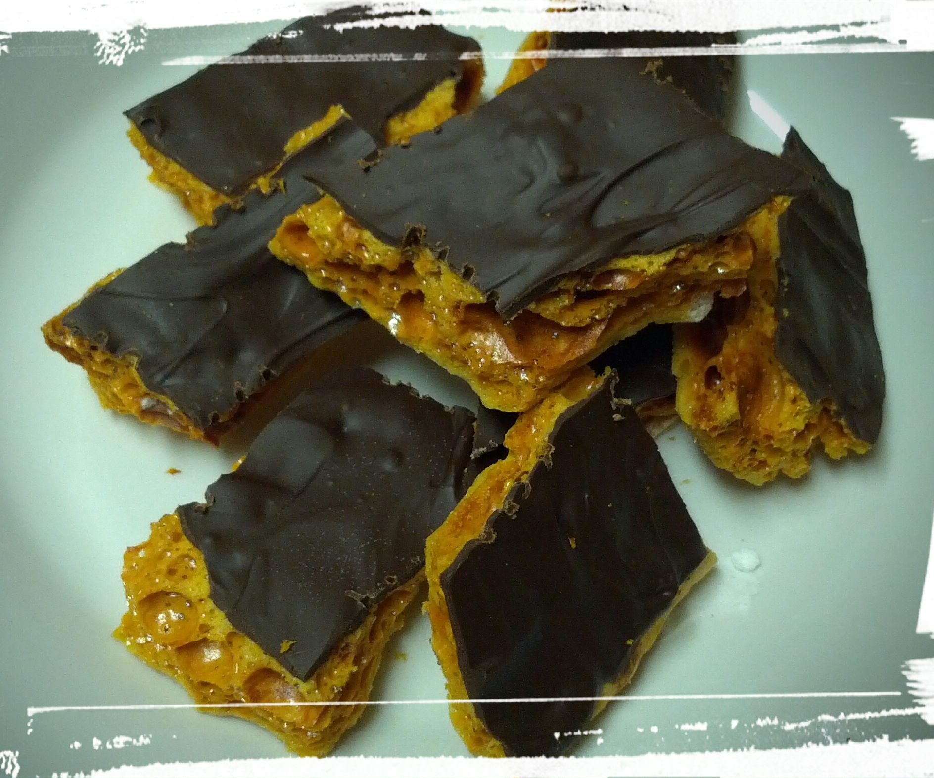 Chocolate-Covered Honeycomb Candy