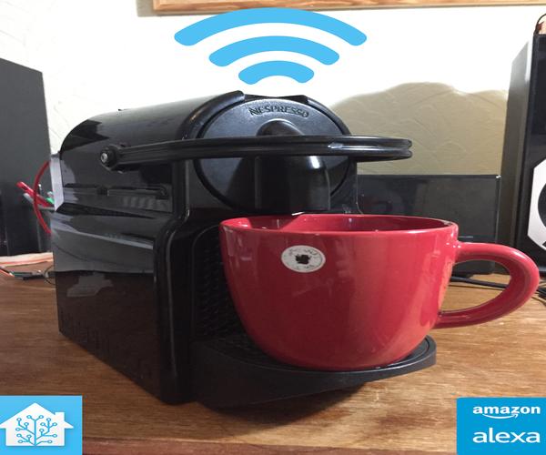 Smart Nespresso Machine Using HomeAssistant, Alexa, or Web Browser
