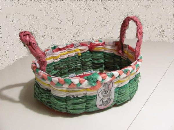 Plastic Bags Easter Basket