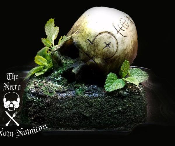 Mossy Skull Cake