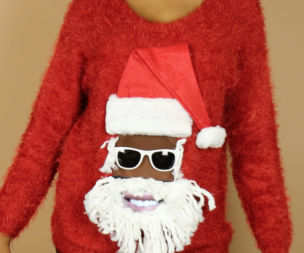 DIY Talking Santa Ugly Christmas Sweater (Insert Smartphone!)